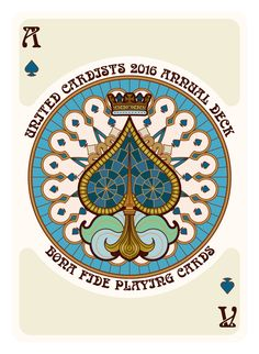 Nouveau Playing Cards Ace of Spades - playing cards art, game, playing cards collection, playing cards project, cards collectors, design, illustration, card game, game, cards, cardist, cardistry