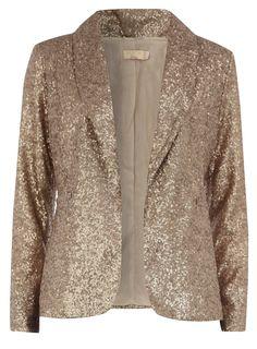matt gold sequin blazer