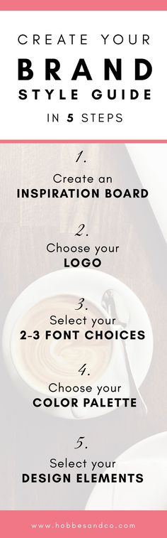 Create your Brand Style Guide in 5 Steps via @claredrake1
