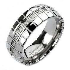 8mm Mens Titanium Traditional Wedding CZ Engagement Band Ring Bridal Sizes 9-13