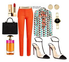 Fun Fashions by niccicollins on Polyvore featuring polyvore fashion style Gucci Victoria Beckham Christian Louboutin Strathberry Movado Magdalena Frackowiak Yves Saint Laurent Prada clothing