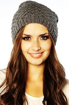 Gray Crochet Slouchy Beanie for Girls - Cute Loose Knit Crochet Slouchy  Beanie Crochet Slouchy Beanie 460074735b2