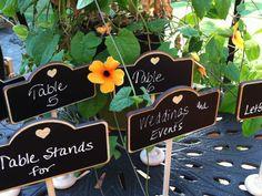 Elegant Wedding Chalkboard Stands by LetsTalkChalk, $6.00