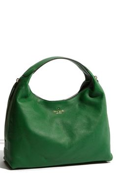 Love the Kelly Green! kate spade new york 'mansfield juniper' leather hobo in Fern