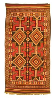 Africa | Wool carpet; kilim flat weave. Khenchela region, Algeria | 2nd quarter of the 19th century