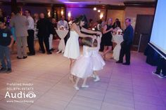 Nicole traded her wedding gown for a cocktail dress as she and some of her younger guests stretched out on the dance floor. http://www.discjockey.org/real-chicago-wedding-may-9-2015/