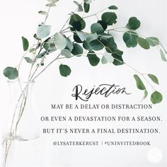 Learn what God's word says about rejection. Join us for Proverbs 31 Online Bible… Faith Quotes, Bible Quotes, Words Quotes, Sayings, Bible Verses, Scriptures, Uninvited Lysa Terkeurst, Uninvited Book, Rejected Quotes