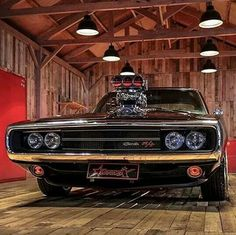 amazing cars Amazing black Dodge Charger inside of a seriously cool wooden floored shop Dodge Charger Negro, Dodge Charger 1970, Charger Rt, Dream Cars, Dodge Chargers, Sweet Cars, Chevy Camaro, Ford Chevrolet, Buick Gmc