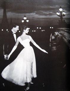 Carmen Dell'Orefice photographed by Avedon in Paris for Harper's Bazaar, 1957.