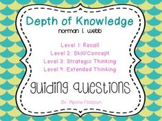 "I added ""DEPTH OF KNOWLEDGE GUIDING QUESTIONS - TeachersPay"" to an #inlinkz linkup!http://www.teacherspayteachers.com/Product/Depth-of-Knowledge-Guiding-Questions-1167440"