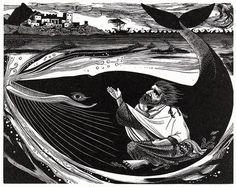 Jonah - Wood Engraving by Sarah van Niekerk
