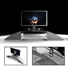 Nashville TV Stand With In Built IPAD And I Phone Control System