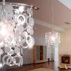 details zu decken leuchte beleuchtung acryl blätter verchromt ... - Moderne Wohnzimmerlampe