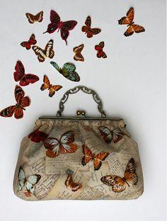 L_L_S / Motýlia Coin Purse, Wallet, Purses, Fashion, Pocket Wallet, Handbags, Moda, La Mode, Handmade Purses