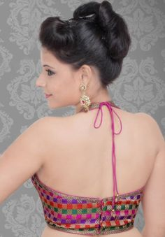 Halter neck sari blouse - [Indian]