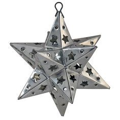 Mexican Punched Tin Star Ornaments-set of 2 - eclectic - holiday decorations - Indeed Decor