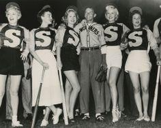 Shelley Winters, Ava Gardner, Virginia Mayo, Frank Sinatra, Marilyn Maxwell and Fran Warren