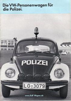 VW - 1970 - Die VW-Personenwagen für die Polizei. - 153.911.00 12/70 - [2038]-1 Model Auto, Porsche, Audi, Kdf Wagen, Combi Vw, Vw Vintage, Car Brochure, Police Cars, Police Vehicles