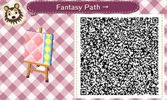 Animal Crossing QR Codes ❤ Pink Fantasy  Diamond path  Right Side Straight TILE#8 of 9