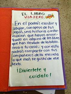 El libro viajero                                                                                                                                                                                 Más Preschool Education, Primary Education, Teaching Resources, Reading Stations, Teachers Corner, School Subjects, Classroom Inspiration, Writing Advice, Teaching Spanish
