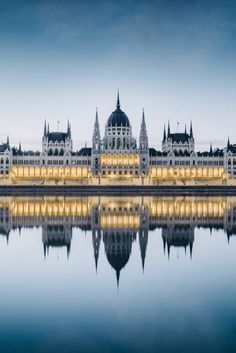 The Parliament House in Budapest, Hungary.