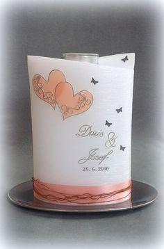 #hochzeitskerze #teelichteinsatz #brautkerze #heiraten #romantisch #rustikal #diekerzentante