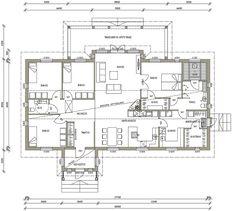 Talomallit | Luonnospankki | 1-kerros | L-14081 / 158 m² Bungalow, Humble Abode, Future House, House Plans, Floor Plans, Layout, How To Plan, Deco, Interior