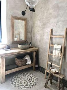 7 Best Rustic Interior Design Ideas for Bathroom Rustic Bathroom Designs, Rustic Bathrooms, Bathroom Interior Design, Natural Bathroom, Men's Bathroom, Rustic Interiors, Beautiful Bathrooms, Bathroom Inspiration, House Design