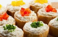 Photo about Mini sandwiches - bread with cream cheese and vegetables. Finger Food Appetizers, Appetizer Recipes, Aperitivos Finger Food, Mini Sandwiches, Pasta, Canapes, Diet Recipes, Sushi, Buffet