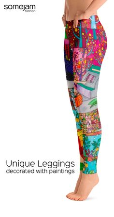 We make eye-catching leggings decorated with paintings of artists. Discover our bold and striking yoga pant collection. Women's summer clothes with garish and unique design - Colorful Leggings, Yoga Pants, Skirts, Dresses, Tops, Flip-flops, Reversible Bikinis, One-Pieces Swimsuits, Beach Bags - WRAP YOURSELF INTO ARTWORK - #summerclothes #leggings #bold #vivid #colorful #striking #unique #happy #eye-catching #garish #artwear #fashion #somejam #beach #summer #yogapants #somejamfashion…