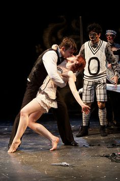 """1920s-set #TwelfthNight at #SyneticTheater in Washington DC. This show is part of their """"silent Shakespeare"""" series - Shakespeare plays told with movement, dance and stage combat! """"If music be the food of love, SWING on!"""" #Theater #Theatre"""