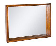 Espejo de pared en madera de acacia Forest – nogal