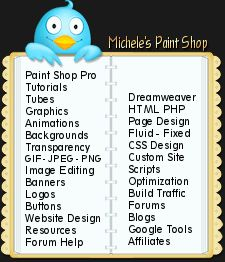 Paint Shop Pro Tutorials Dreamweaver Design