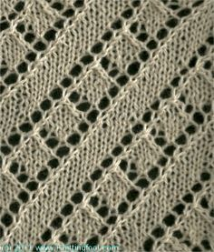 Diagonal Lace 3 - Knittingfool Stitch Detail