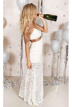 Vestido Renda Carina Off White - fashioncloset-mobile