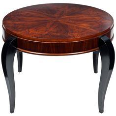 Art Deco Period Mahogany Coffee Table, France, ca. 1930's...MAHOGANY IS WONDERFUL