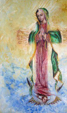 Guadalupana Painting by Karina Llergo