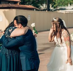 Mystee's favorite wedding day memory was when, during the rose ceremony for their mothers, Mike got to hug his mom for the first time in more than a year of COVID-related safety precautions.