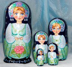Babushka matriochka Matriochka poupée pluie dété par ArtBySveta