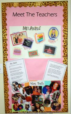 Meet the teacher board: back to school. Maybe put in the hallway before school starts if kids come into the school? Beginning Of The School Year, New School Year, First Day Of School, School Fun, School Starts, School Days, School Stuff, Preschool Curriculum, Classroom Activities