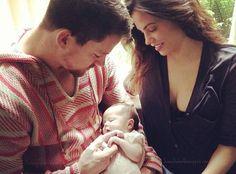 Channing Tatum and Jenna Dewan-Tatum with New Daughter, Everly