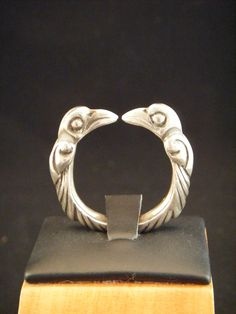 Viking Style Odins Raven Torc Ring Hand Forged in Sterling Silver. $130.00, via Etsy.