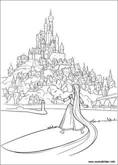 Rapunzel malvorlagen