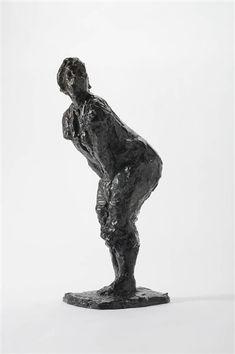 Hans Bayens - Woman bending forward, 1948, Bronze on MutualArt.com