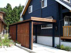 車庫 屋根 木製 1台