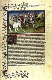Folio 54r from a facsimile of 'Le divisament dou monde,' preserved at the University of Graz, in Germany. (View Larger)