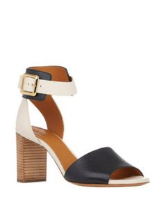 CHLOE Bi-Color Ankle-Strap Sandals