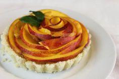 Mimi Kirk's Peach Pie  http://www.welikeitraw.com/rawfood/recipes/  http://youngonrawfood.com/