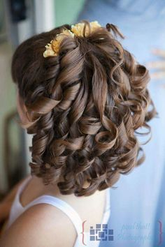 Super Wedding Hairstyles For Kids Curls Ideas Communion Hairstyles, Dance Hairstyles, Flower Girl Hairstyles, Little Girl Hairstyles, Pretty Hairstyles, Wedding Hairstyles, Party Hairstyle, Pagent Hair, Prom Hair