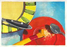 Colorful Gouache Painting  #sasu #painting #colorful #realistic #art #kunst Gouache Painting, Colorful, Watercolor, Illustration, Design, Idea Paint, Art Ideas, Drawing Pics, Watercolour